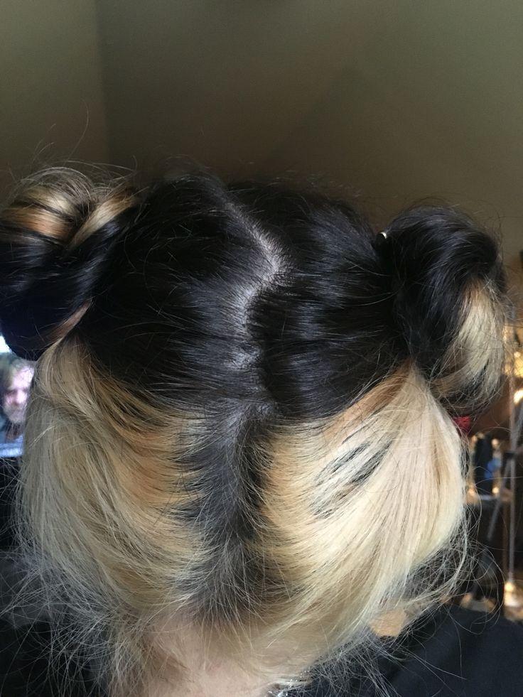 Black with blonde underneath #hair #blackandblonde #spaceballs