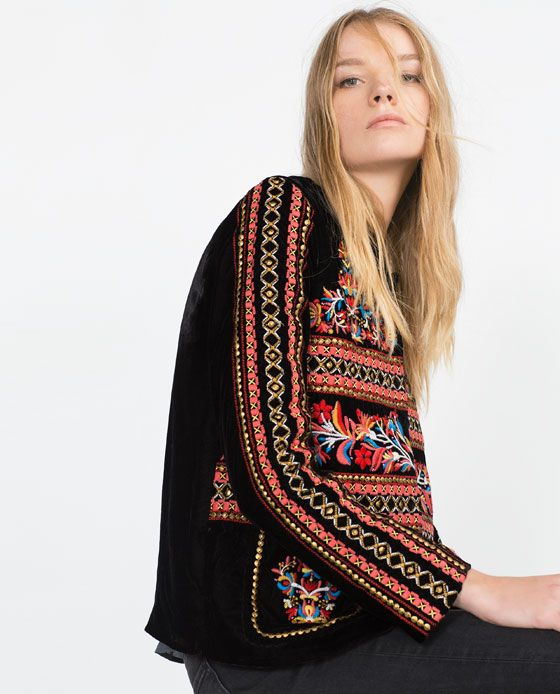 Image 4 of VELVET JACKET from Zara