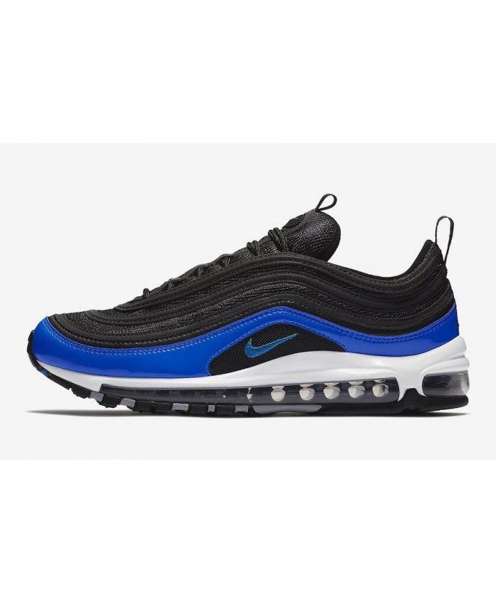 brand new 928a5 e7b0b Mens Nike Air Max 97 Black Blue Nebula Sport Shoes UK Sale