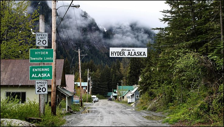 The Village of Hyder, Alaska, as viewed from the Canadian side [1330 x 759]