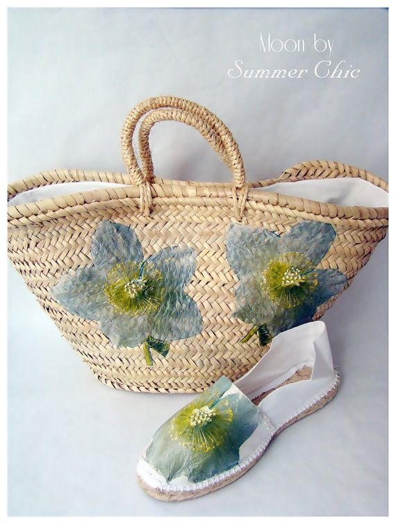 Straw bag for beach or city / Summer bag / by MoonFarresAtelier, $38.00