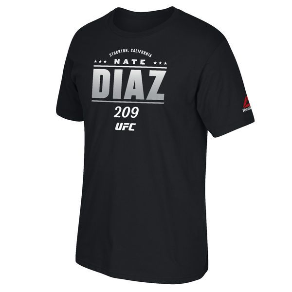 Nate Diaz Reebok Youth 2016 UFC International Fight Week All Star Series T-Shirt - Black - $17.99