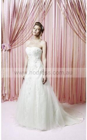 Zipper  Princess Natural Strapless Wedding Dresses gzcf1005