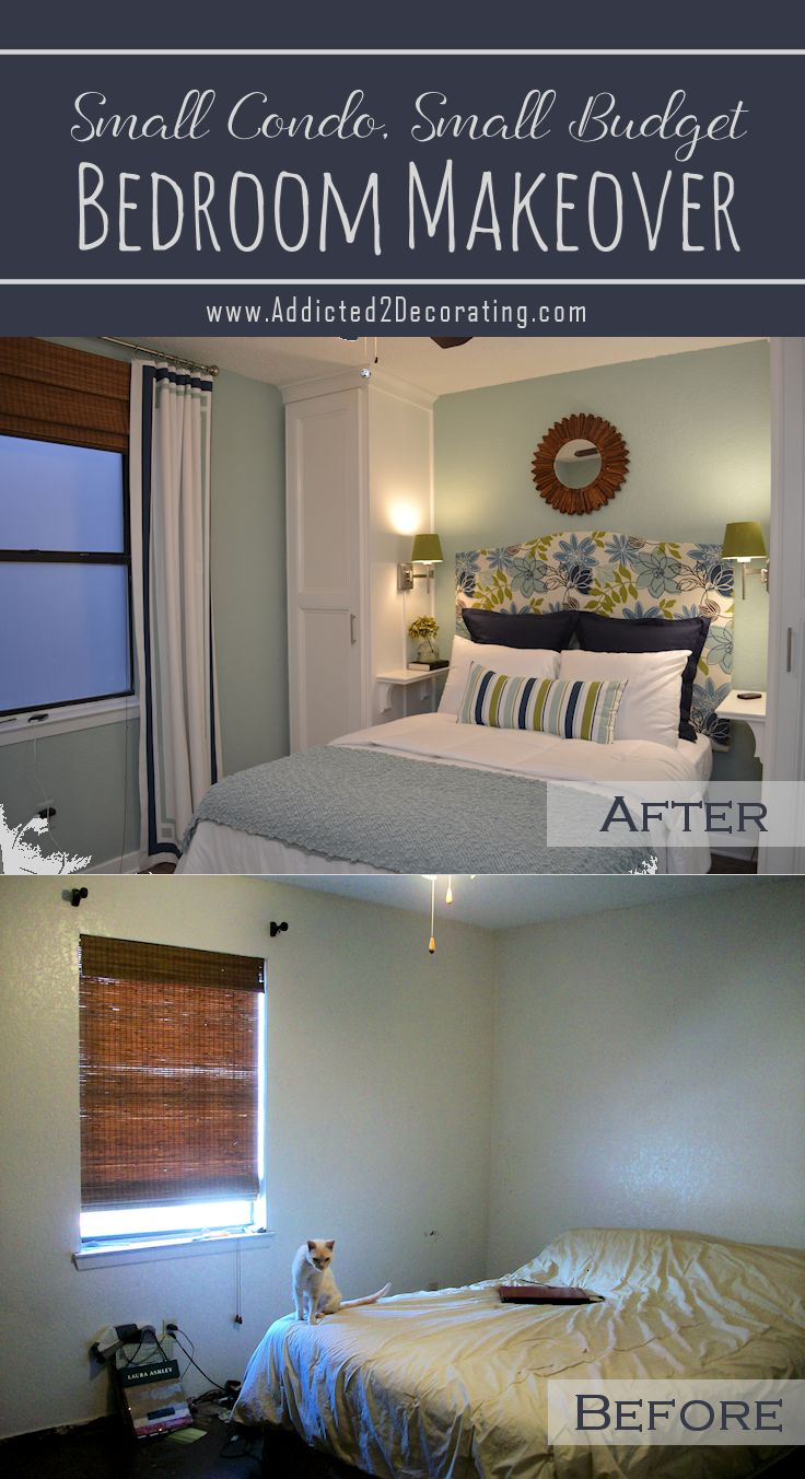 Decorating bedroom ideas on a budget - Small Condo Small Budget Bedroom Makeover Before After