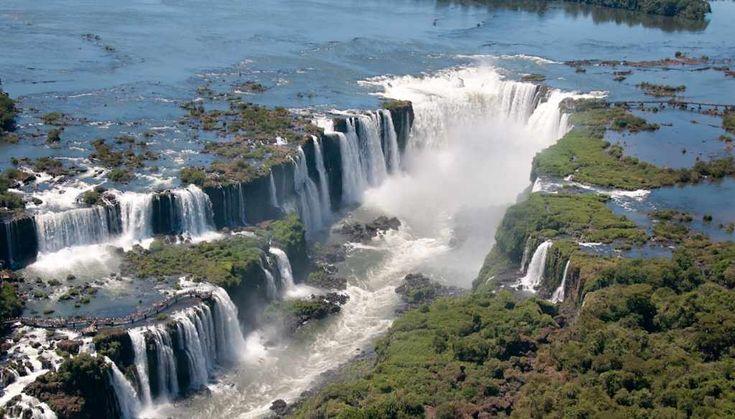 Iguaçu National Park Brazil | Iguazu Falls -- Iguazu River, bordering Brazil and Argentina