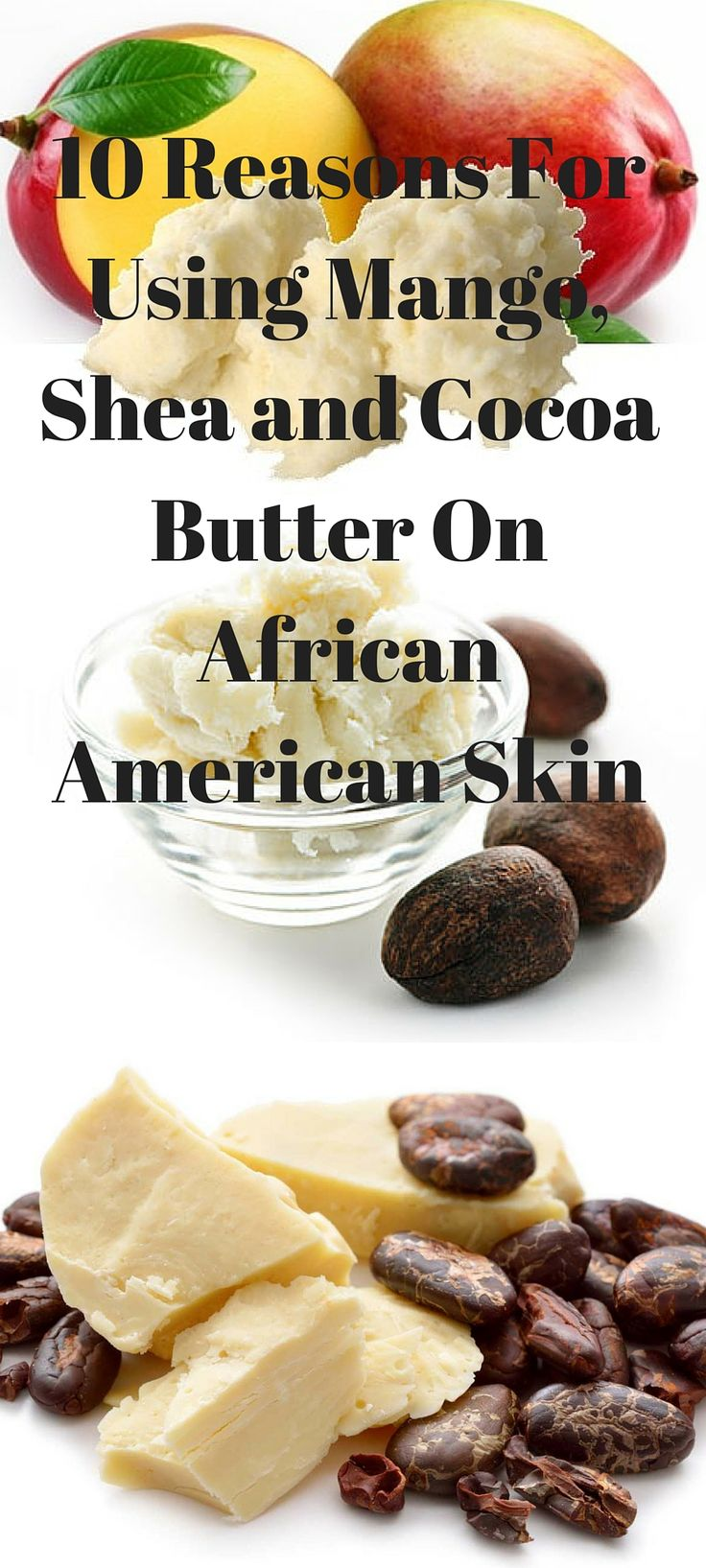 As a woman with beautiful black skin, you're no stranger to the world of body butters. Derived from sources found in nature, Shea, cocoa, and mango body butters go beyond... http://www.nyrajuskincare.com/10reforusmas.html