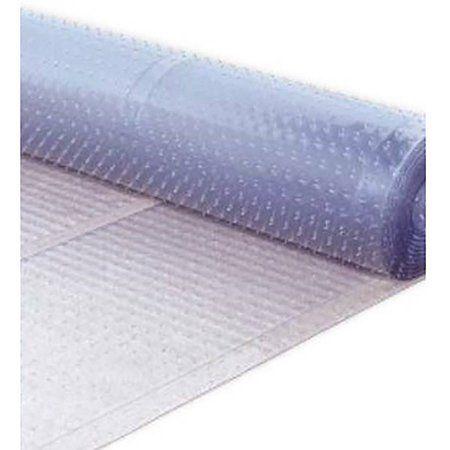 berrnour home multigrip clear ribbed runner rug plastic carpet protector mat
