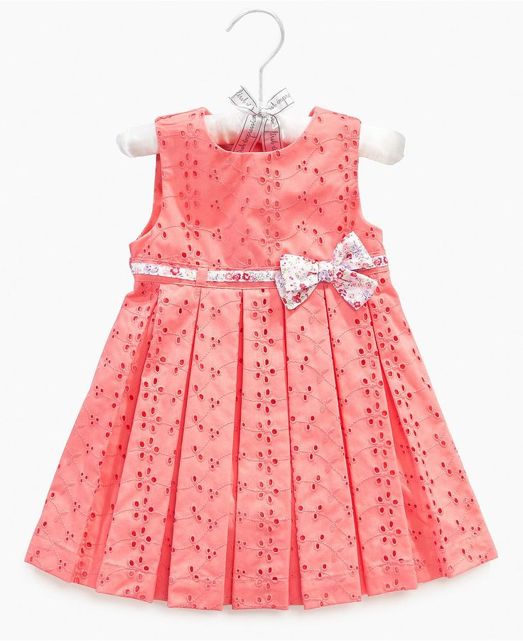First Impressions Baby Dress, Baby Girls Satin Hanger Eyelet Dress and Bloomers - Kids - Macy's
