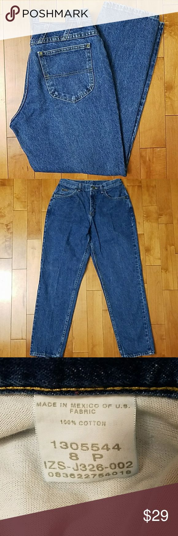 """Riders by Lee High Waisted Mom Jeans Riders by Lee High Waisted Petite Mom Jeans.   Tapered leg.  Size 8P.  Excellent condition and on trend!  Would also make a great pair of cutoff shorts.  14.25"""" across the waist.  11.5"""" rise.  28.5"""" inseam. 100% cotton. Riders by Lee Jeans"""