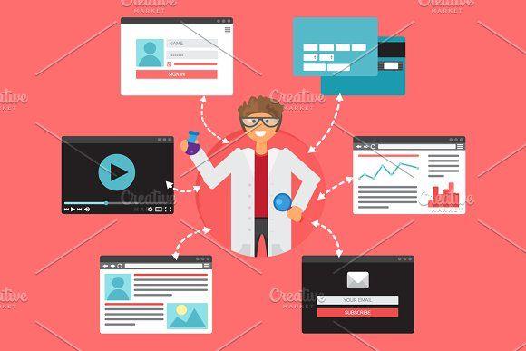 Online Popular Science Concept by barsrsind on @creativemarket