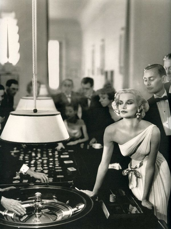 Richard Avedon for Madame Grès, Model: Sunny Harnett for Harper's Bazaar, 1954.
