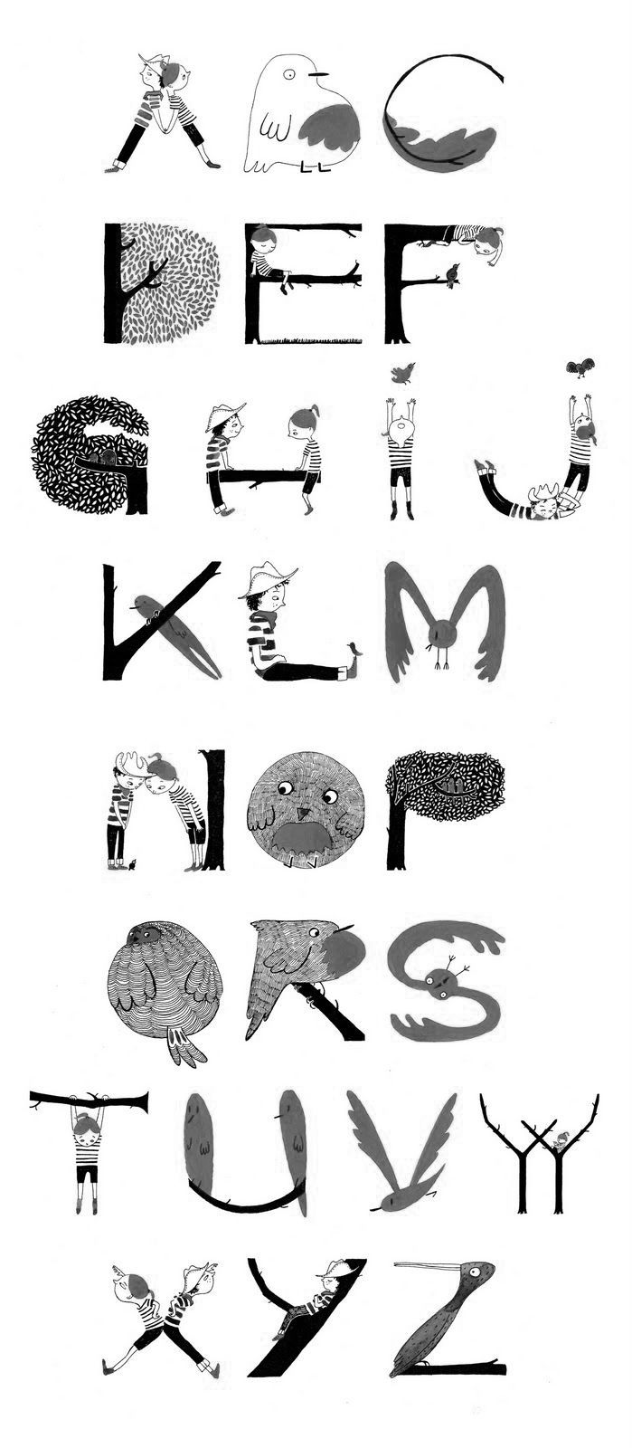 Cute whimsical lettering