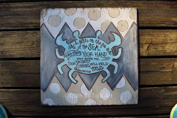 Truth Be Told Art Crab Word Art Design-Original by TruthBeToldArt