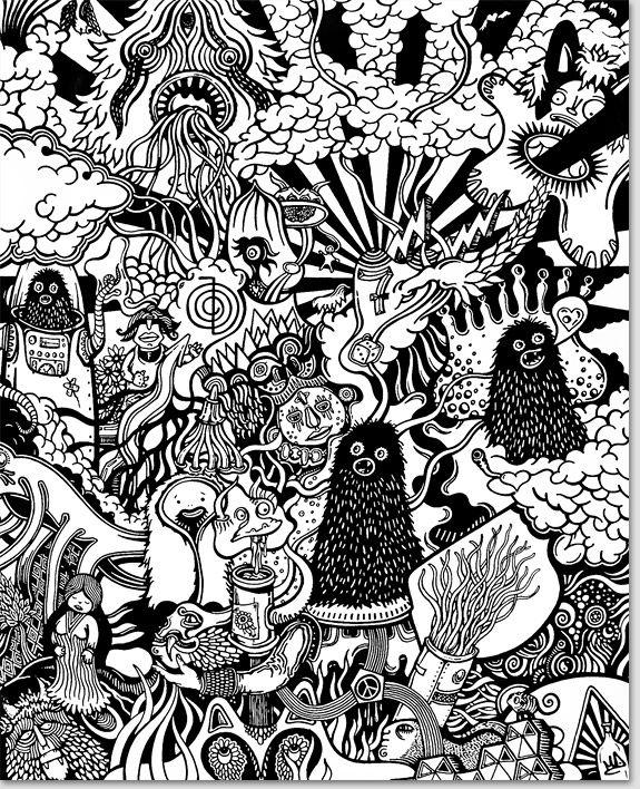 Illustration ~ Black & White - mrdoodle.com │ mrdoodle ltd │ Mike Wolff : Illustrator