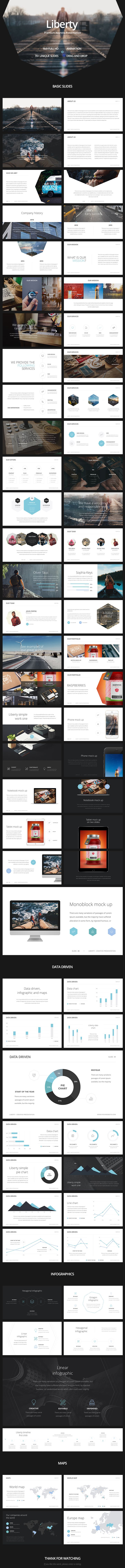 Liberty is a multipurpose keynote template . When creating this presentation, I focused on ease of use for the bought this presentation. You can easily make any adjustments, changing from color to insert the images you want. I hope you like this work. Tha…