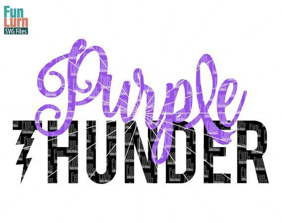Purple Thunder Cancer Survivor Pancreatic Cancer SVG by FunLurnSVG