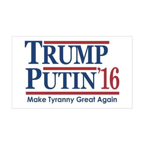 Trump Putin 2016 Decal on CafePress.com