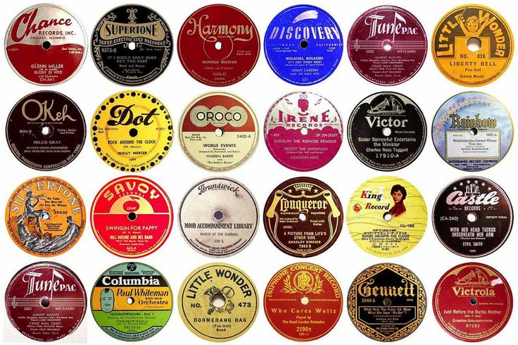 78 rpm record labels