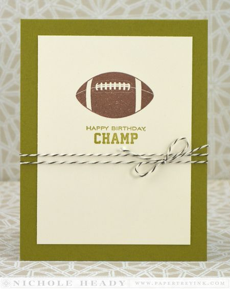 Football Birthday Card by Nichole Heady for Papertrey Ink (April 2014)
