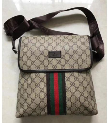 3da7cb9a86c1 19.00 USD GUCCI MEN S HANDBAG SLANT BAG BUSINESS BAG MESSAGE BAG ...