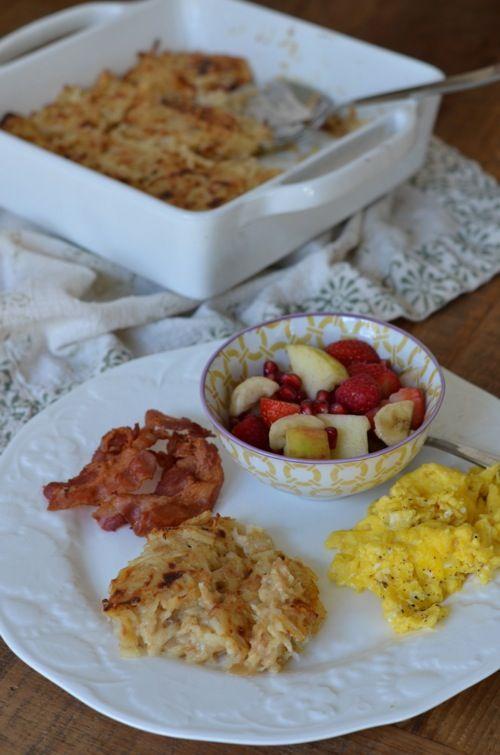 Recipe: Cheesy Hash Brown Casserole (like Cracker Barrel's!) - 100 Days of Real Food