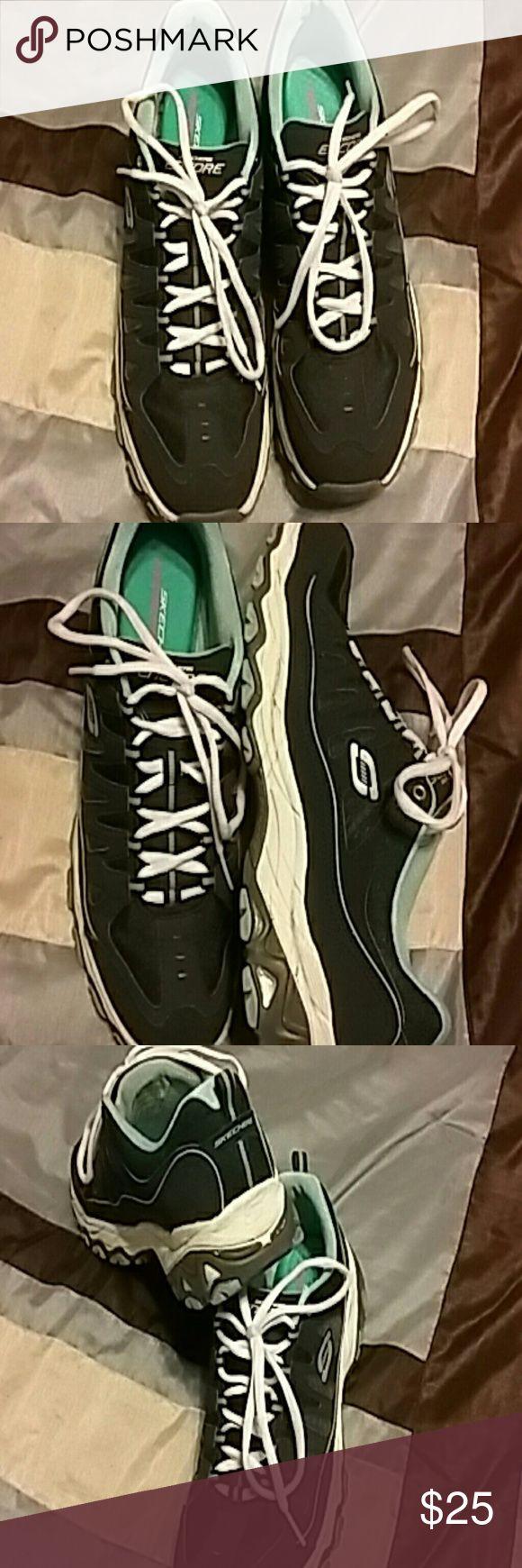 Ladies Skechers Ladies Skechers with memory foam.  Blue , like new Skechers Shoes Athletic Shoes
