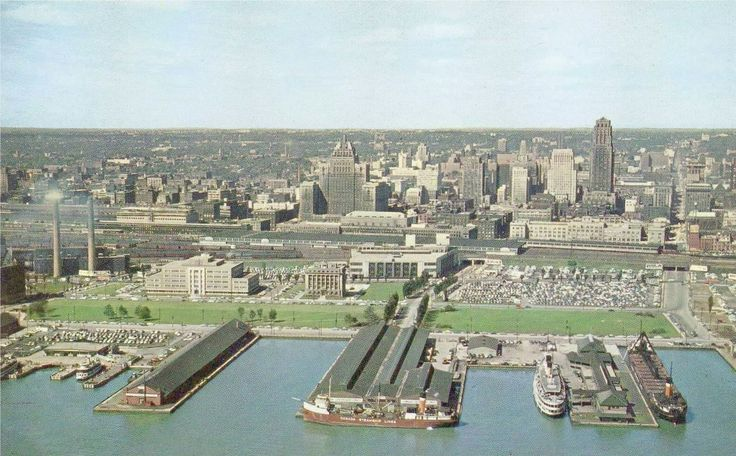 Waterfront parking lot placemaking   TORONTO - WATERFRONT - AERIAL - LOOKING N - STEAM SHIPS - PARKING LOT ...