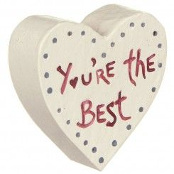 You're the best wooden heart - by East of India £4.25  Only 2 remaining **FLASH SALE** WAS £5.95 NOW £4.25 EAST OF INDIA You're the best Little Wooden Heart This simple little wooden heart from East of India is painted cream, with a row of grey dots following the shape of the heart, and the words, 'You're the best,' in red in the centre. This little heart makes a lovely keepsake gift for someone you love. Complete with little clear lidded gift box.  http://www.shopfestmarketplace.co.uk/s