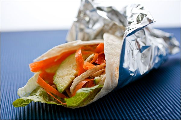 Recipes for Health - Chicken and Vegetable Wrap - NYTimes.com  Lunch box