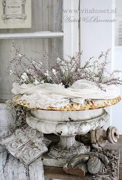 Beautiful aged garden and architectural elements for accessories