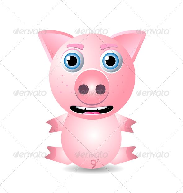 Pig or Piglet Character  #GraphicRiver         Cute animal pig or piglet character isolated on white background. Zip archive contains fully editable layered and scalable vector file in eps 10 format and high resolution RGB jpg image.     Created: 7May13 GraphicsFilesIncluded: JPGImage #VectorEPS Layered: Yes MinimumAdobeCSVersion: CS Tags: Omnivore #animal #baby #background #character #creature #cute #domestic #farm #fun #funny #grunter #ham #icon #illustration #isolated #little #mammal…