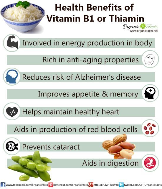 Health Benefits of Vitamin B1 or Thiamine | Organic Facts