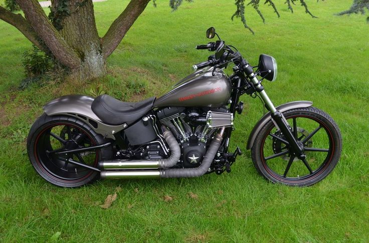harley davidson softail night train mit 300er rick s umbau von fachwerkstatt bobber and. Black Bedroom Furniture Sets. Home Design Ideas