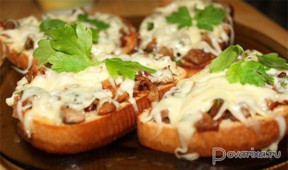 Горячие бутерброды с ветчиной - рецепт.