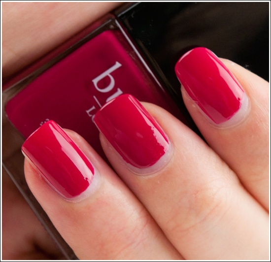 """Butter London - Blowing Raspberries  All Butter London nail-polishes are vegan, not tested on animals and """"3-free"""" - no formaldehyde, no toluene, no DBP (dibutyl phthalate)"""