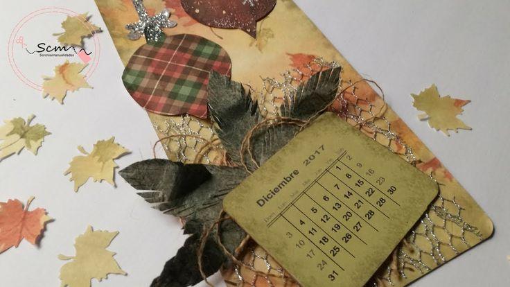 Manualidades para Navidad: Como hacer Tag calendario de Adviento scrapbo...