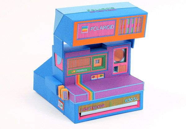 Papercraft Retro Gadgets - Design Stories Social Network; wish it was real!