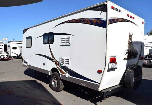 2012 Used Skyline BOBCAT 183 Travel Trailer in California CA.Recreational Vehicle, rv, 2012 Skyline Bobcat 183 for sale! This is the perfect coach that is extremely light weight. Single Axle. Awning, front window, full kitchen, walk around queen bed with storage underneath, huge closet, and a ton more. Call FRANK & ANDREA for more information and to CONFIRM AVAILABILITY. (951) 468-0691