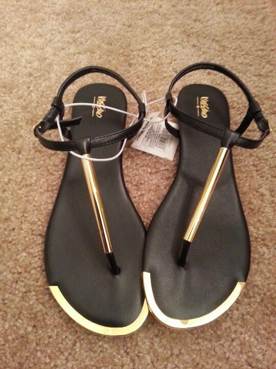 Black And Gold Mossimo Sandals Shoes Pinterest Summer How To Wear