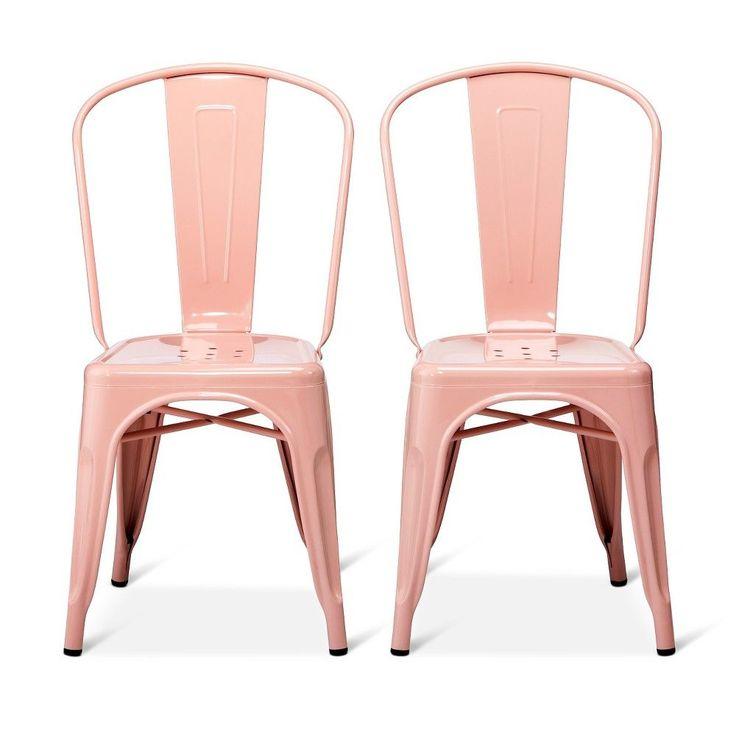 carlisle high back metal dining chair