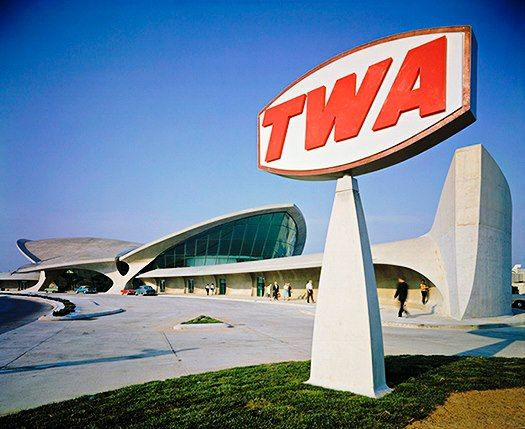 TWA - Trans World Airlines @   TWA Terminal, Idlewild (now  JFK) Airport 1962 via FlyTWA on Facebook.