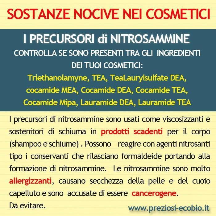 I Precursori di nitrosammine