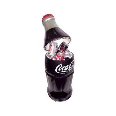 Coca-Cola Bottle Fridge.  The Koolatron Coca-Cola Bottle Fridge takes the shape of a classic Coca-Cola bottle and is a favorite among collectors.