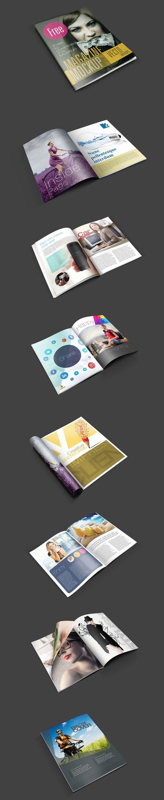 Free Magazine Mockup | For more free magazine mockup templates visit iBrandStudio.com