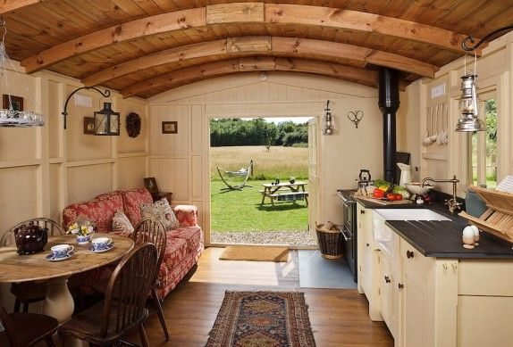 shepherds hut interior (many more on pinterest)