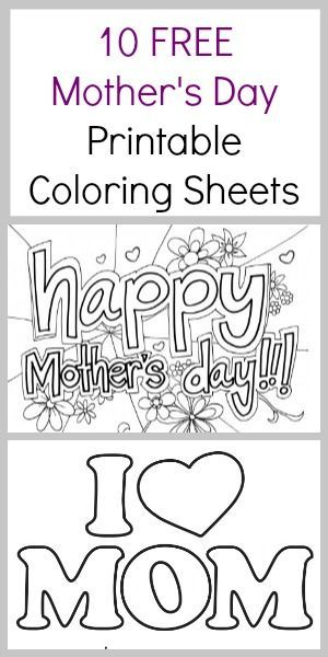 Mom's love homemade art work. Here are 10 free Mother's Day Coloring Sheets - Coupon Closet