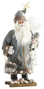 SEASIDE SANTA - NEW beach-style-holiday-accents-and-figurines