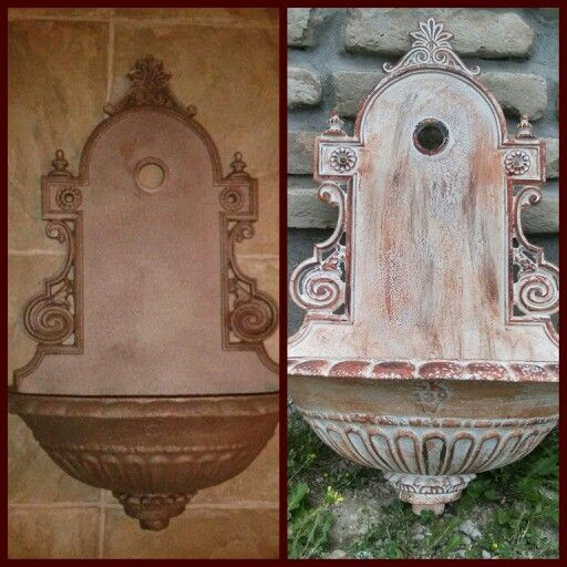 wall fountain before/after