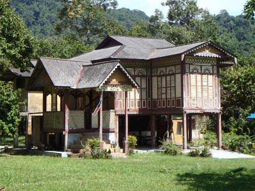 Traditional Malay house Balik Pulau, south west Penang