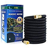 GLOUE 25FT Garden HoseSolid Brass Connector2017 Update Strongest HoseSealing RingsDurable Latex Core and Strength Fabric Polyester for Cars Expandable Hoseaddition a Portable Quick Connector
